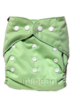 BumChum Reusable Cloth Diaper - Green (Green)