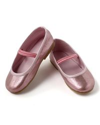 Dchica Chic Metallic Pink Shoes For Little Girls,  pink