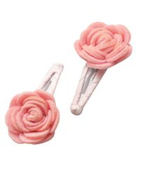 Dchica Chic Felt Flower Clips For Girls pink,  pink