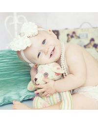 Pinkblue India Baby Headband With Bunch Of Roses,  white