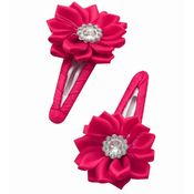 Dchica My shiny flower set of 2 clips for baby girls fuschia, fuschia