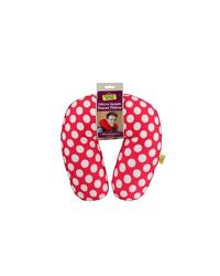 Microbead travel neck pillow, pink
