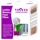 Viaggi Memmory Foam Lumbar Pilow, light brown