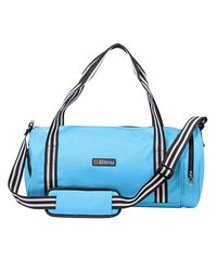 Bleu Duffle Gym Bag, sky blue