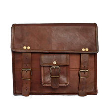 Rustictown Leather Satchel Laptop Bag, brown
