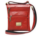 Chanter Texture Design Genuine Leather unisex Red Sling Cross Bag - RA738, red
