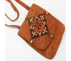 Ghasitaram gifts Kashmiri Brown Leather Sling Bag