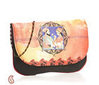 Aapno Rajasthan Ethnic Royal Couple Digital Print Evening Bag, multicolour