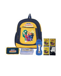 Bleu School Bag Ideal for Kids, yellow and blue