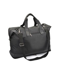 Tuelip Folding Leatherette Travel Bag, black