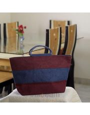 Ethnik Handcrafted Striper Design Bag of Recycled Jute_ 25