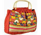 Colourful Handmade Embroidery Work Hand Bag (Multicolor)