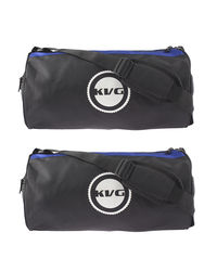 Kvg Unisex Gym Bags Combo, blue and black