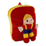 Deals India Kids Shoulder Tshirt Boy With Cap Red Colour (38 x 30 x 10 cm) (bag18), maroon