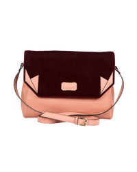 Lomond LM73 Sling Bag For Women, peach and maroon