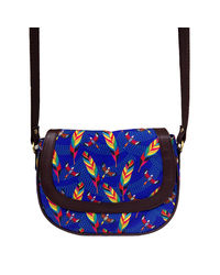 The Elephant Company Tropical Birds Leather Sling Bag, multicolor
