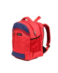 Bleu Large School Bag, red and blue