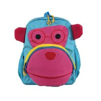 Bleu School Bag Ideal for Kids, sky blue and pink