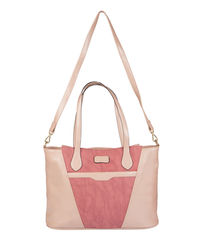 Lomond LM100 Laptop Bag For Women, salmon and maroon