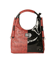 Ivy Leather Handbag - 88405_ 07, red