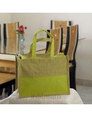 Ethnik Handcrafted Twin Color Bag of Recycled Jute_ 31