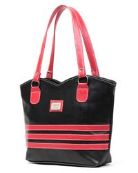 Elysin Sublime Women Handbag, black and red