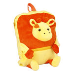 Deals India Kids Shoulder Cow Face Bag With Orange & Yellow Colour (38 x 30 x 10 cm) (bag7), multicolor