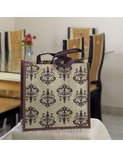 Aesthetic designed Hand Block printed Bag of Recycled Jute_ 46