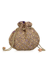 Oleva Ladies Matka Style Beads & Sequins Clutch Bag - OCB_ HI_ 41, multicolor