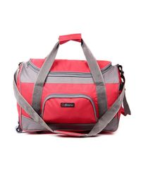 Bleu Travel Bag with Wheels, red and grey