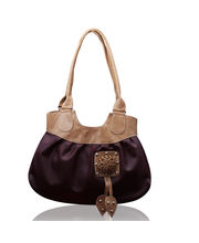 Fostelo Leather Louis Handbag FSB-81, brown