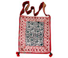 Villcart Hand Block Print Bag Big-3, red