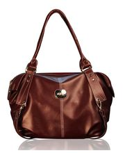 Fostelo Leather Casual Handbag FSB-41, brown