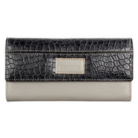Lomond LM115 Trifold Wallet For Women, grey and snake black