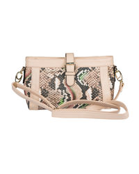 Lomond LM200 Sling Bag For Women, beige and printed