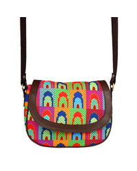 The Elephant Company Mihrab Leather Sling Bag, multicolor