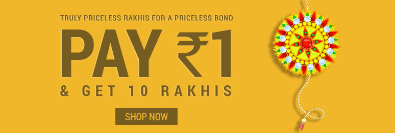 Rakhi Rs 1 Offer