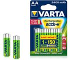 Varta Power Accu 4 AA Size Ni-Mh 2400 mAh R2U Battery, multicolor