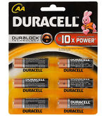 Duracell  AA  Alkaline Battery 12x6 Pack, multicolor