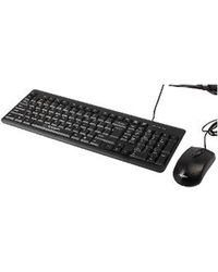 Combo Of Hyundai Keyboard+ Mouse - HY-KM9502,  black