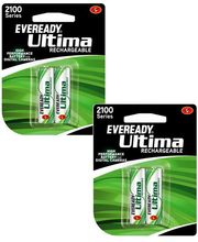 Eveready 2100 mAh 2 AA Battery Pack (1+ 1) Combo (Multicolor)