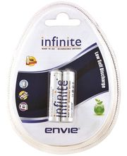 Envie AAA 800 2PL Infinite Rechargeable Batteries, multicolor