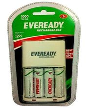Eveready Ultima Rechargeable Nimh 700 Mah 4 Pc Batteries With AA-AAA Charger For Camera, Multicolor