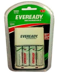Eveready Ultima Rechargeable Nimh 700 Mah 4 Pc batteries with AA-AAA charger, multicolor