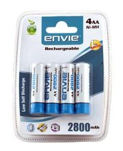 Envie AA 2800 4PL Rechargeable Battery, multicolor
