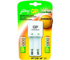 Godrej GP Powerbank KB 02 (with 2 Pcs GP 1300 mAh AA Batteries) Battery Charger (White)