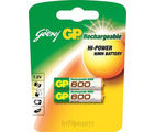 Godrej GP AAA 600 mAh (2 Pcs) Rechargeable Battery (Multicolor)