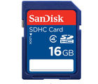 SanDisk Class 4 SDHC 16GB Card, blue