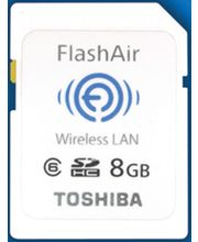 Toshiba Flash Air 8GB Wi-Fi SDHC Card, multicolor, 8gb