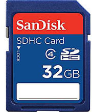 SanDisk Class 4 SDHC 32GB Card, Blue